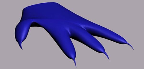 مدل کردن پنجه دست