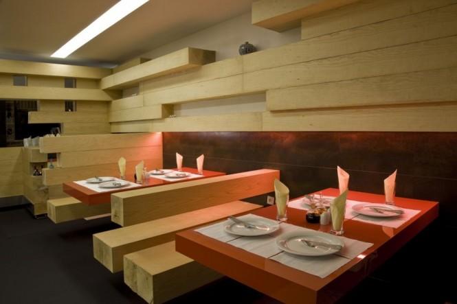 طراحی هنرمندانه یک رستوران در تهران