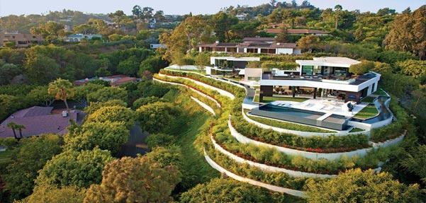 طراحی خیره کننده خانه ای در بورلی هیلز