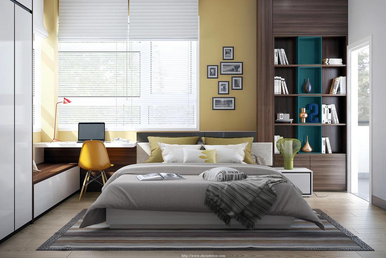 9-Yellow-white-bedroom-decor