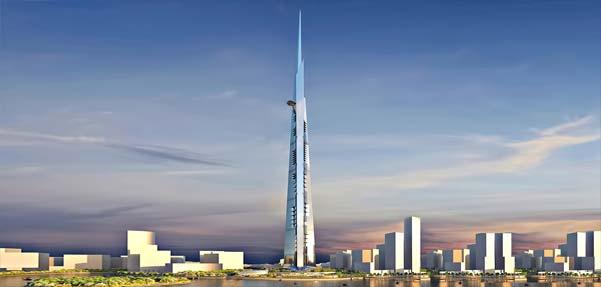 پروژه ساخت بلندترين برج جهان به ارتفاع يک کيلومتر کليد خورد
