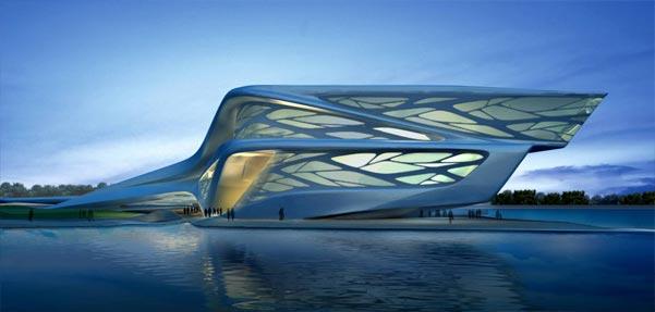 طراحی خیره کننده مرکز هنرهای نمایشی در ابو ظبی از زاها حدید