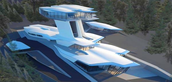 طراحی شگفت آور ویلایی عظیم و لوکس در مسکو