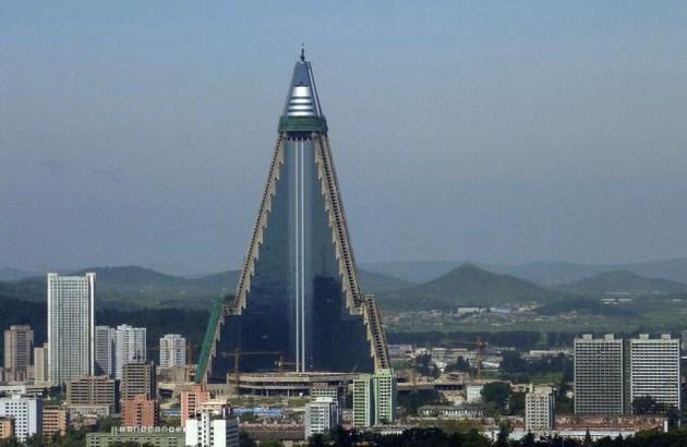 Ryugyong Hotel is seen in Pyongyang