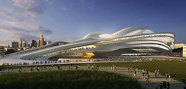طراحی ورزشگاه ملي ژاپن از زاها حديد
