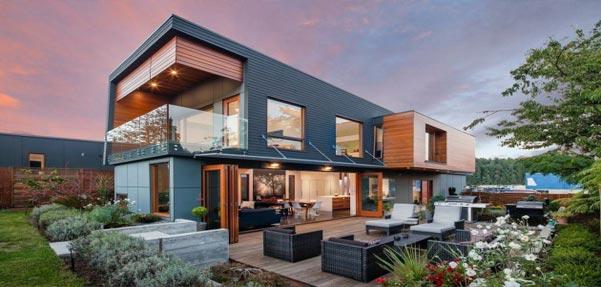 طراحی فوق العاده خانه ای دو طبقه