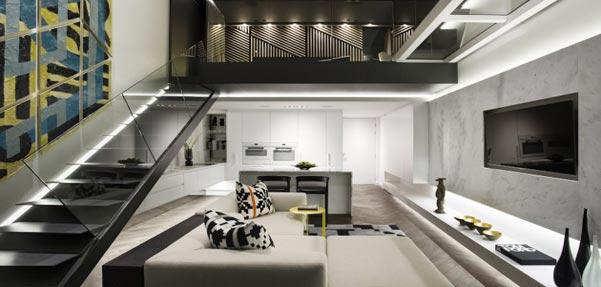 طراحی مدرن آپارتمان توسط دوگروه معماری AA و OKHA