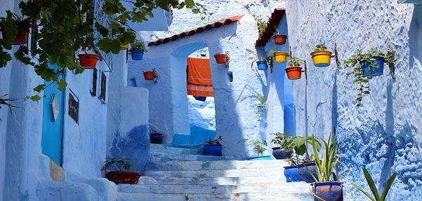 شهری رویایی به رنگ آبی !