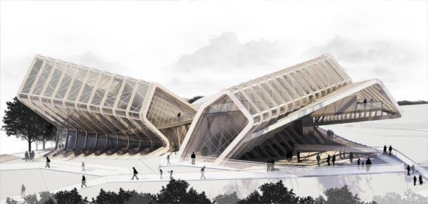 طراحی 'مجتمع رسانه ها' توسط گروه معماری CAAT در تهران
