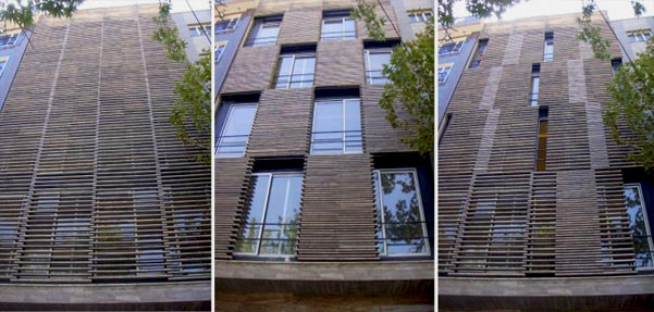جعبه شطرنجی;ساختمانی با نمای متحرک/تهران