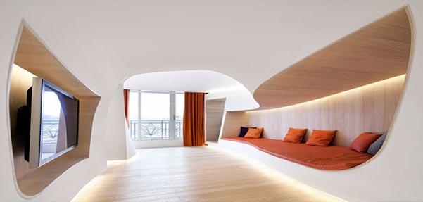 طراحی داخلی آپارتمان زمستانی توسط penda / چین
