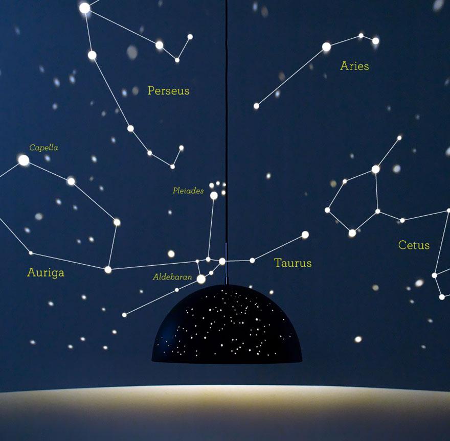 چراغ اتاق خواب ستاره ای