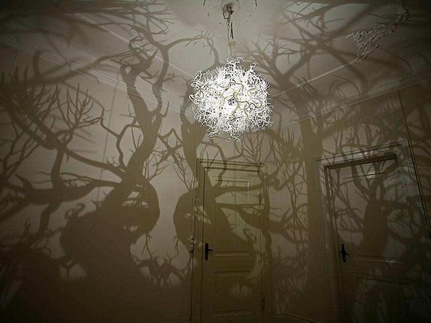 چراغ اتاق خواب جنگلی
