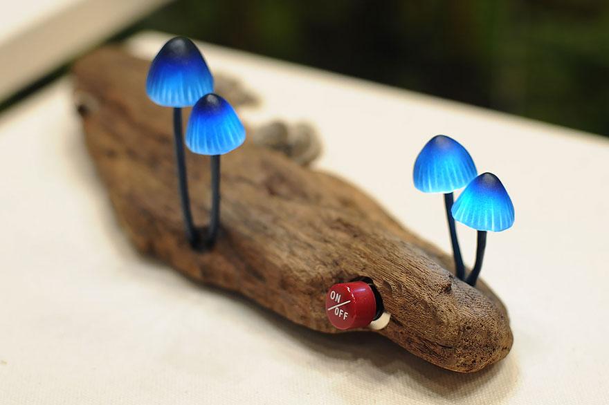 چراغ اتاق خواب قارچی
