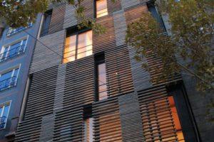 طراحی منحصر به فرد نمای ساختمان/تهران،خیابان خرسند