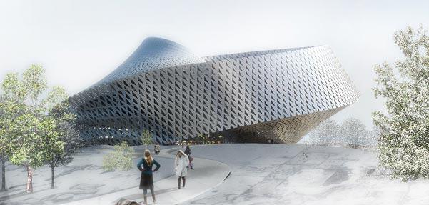 طرح برنده مسابقه بین المللی طراحی کتابخانه ملی قزاقستان