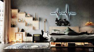 طراحی های مدرن برای اتاق خواب