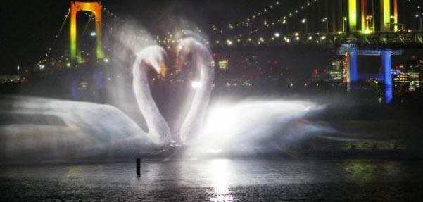 جلوه های روشنایی در آب
