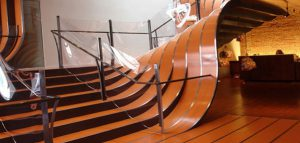طراحی پله های فروشگاه Longchamp نیویورک