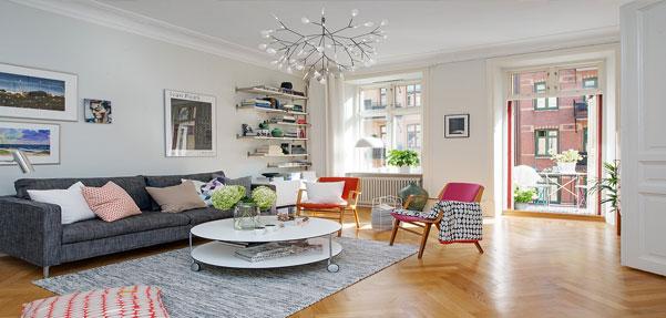 آپارتمان رنگارنگ الهام بخش جزئیات در طراحی