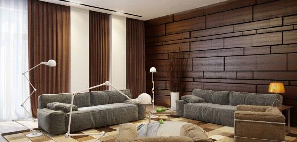 خانه ای مدرن با رنگ هایی گرم و دلپذیر