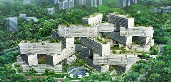مجموعه آپارتمان the interlace در سنگاپور