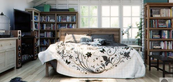 مدلسازی اتاق خواب با  Nstudio VizCorner