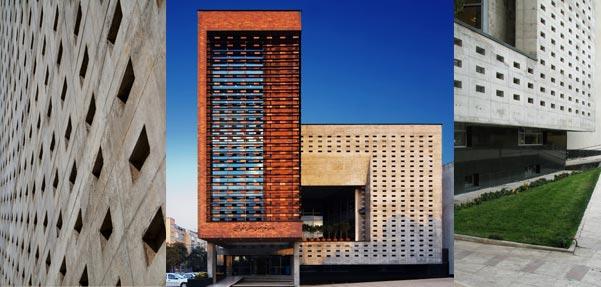 ساختمان نظام مهندسی قزوین ; فینالیست فستیوال معماری بارسلون