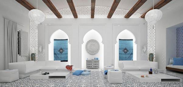 مجموعه اى زیبا از طراحى داخلى مراکشى