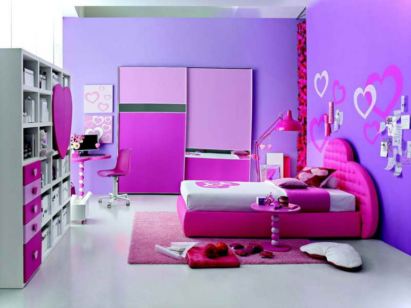 Colorful-Theme-for-Bedroom-With-Pink-Carpet