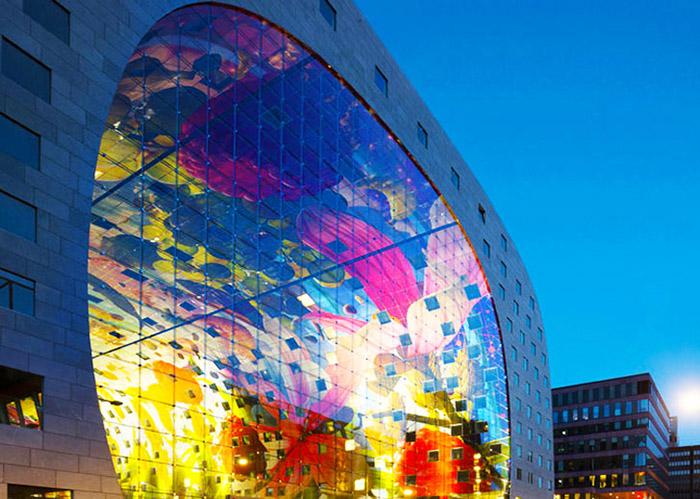 MVRDV-Rotterdam-Markt-NightShot