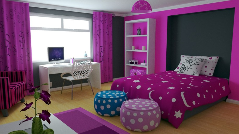 Purple-Color-for-Girls-Bedroom-Decorating-Ideas-915x514
