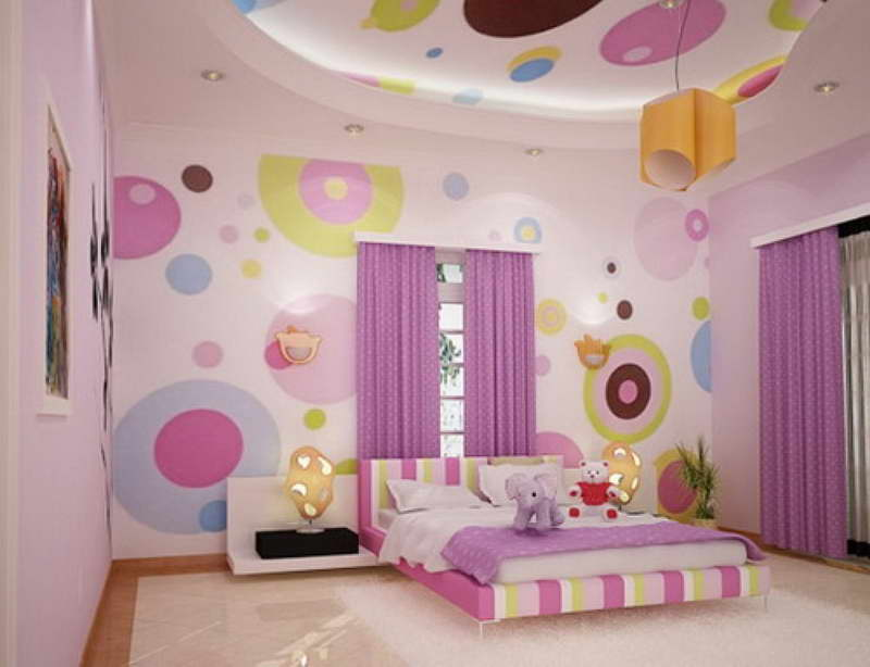Teenage-Bedroom-Designs-With-Wallpaper