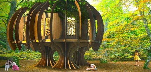 اولین خانه درختی جهان /سکوتی آرامش بخش را هدیه میدهد