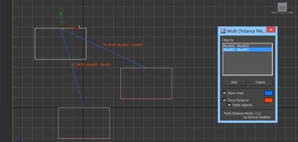 Multi Distance Meter ; اسکریپت تعیین فاصله اشیاء در 3Ds max