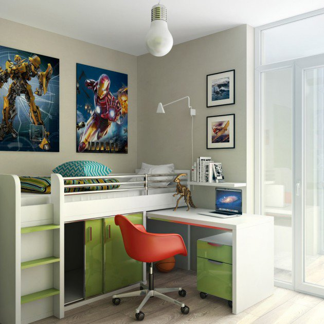 15-Entertaining-Contemporary-Kids-Room-Designs-8-630x630