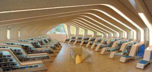 کتابخانه ای مدرن وزیبا/نروژ