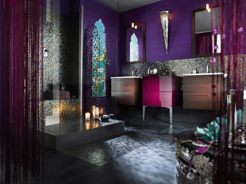 Moroccan-style-purple-bathroom