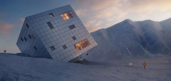 طراحی عجیب و زیبای سازه ای با الهام از یخچال های طبیعی