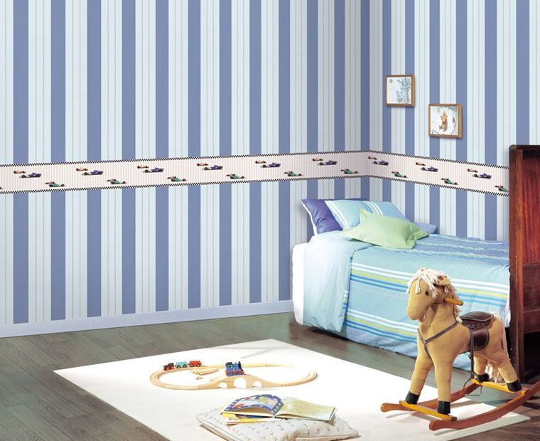 blue-white-striped-walls