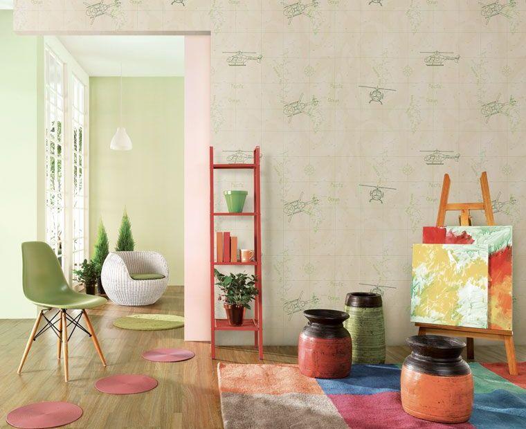 green-white-childrens-room