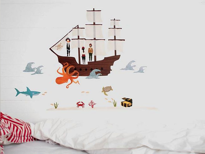 pirate-sea-creatures-wall-stickers