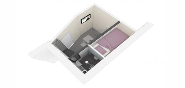 طراحی آپارتمان ۸ متری ; استدیو Kitiko Studio