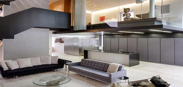 خانه ای شیک به سبک مدرن