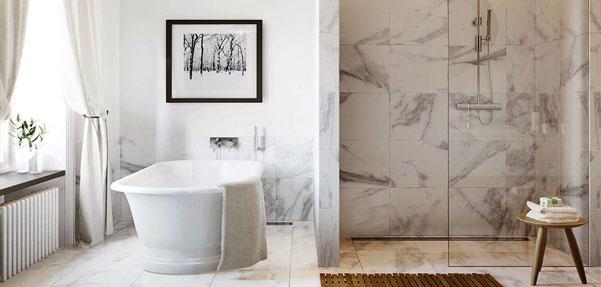پوشش چشم نواز سنگ در دکوراسیون حمام