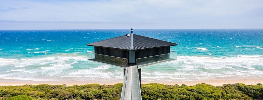 خانه ای رویایی بر فراز اقیانوس
