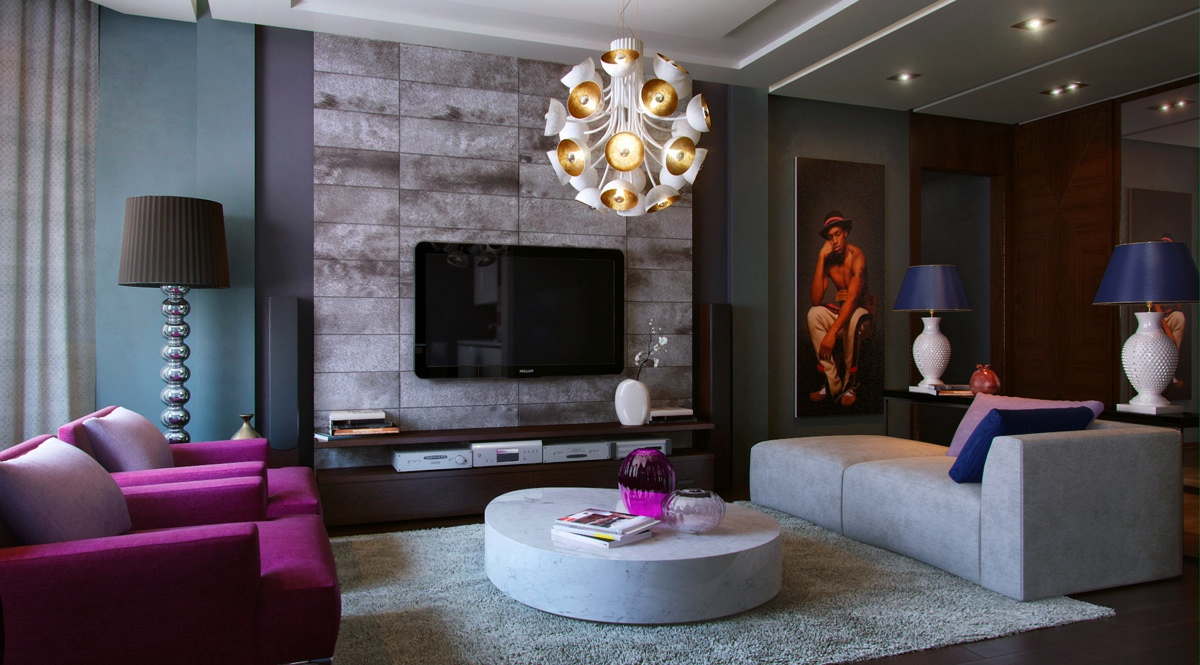Purple-teal-slate-living-room