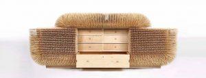 طراحی کشو دیدنی با ۸۰ هزار گیره – از چوب بلوط