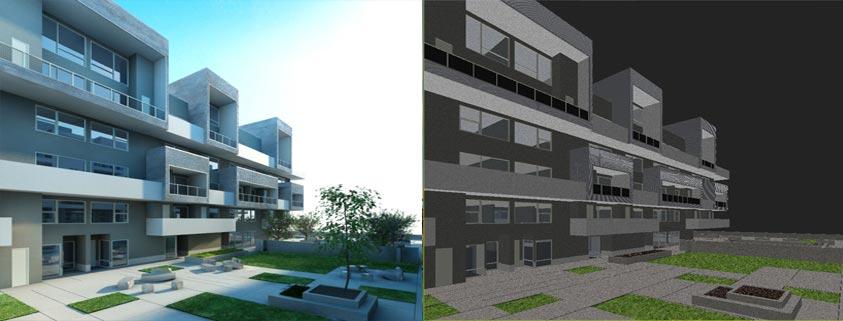 آموزش نورپردازی خارجی ساختمان در Vray
