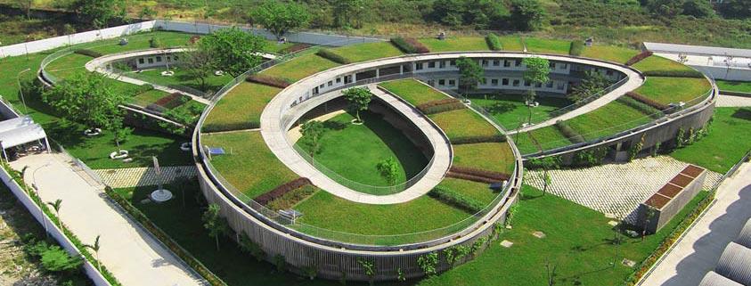 باغ حلزونی سبز ; کودکستانی زیبا در ویتنام